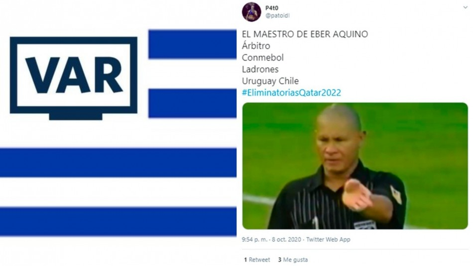 Los memes del partido Uruguay-Chile.
