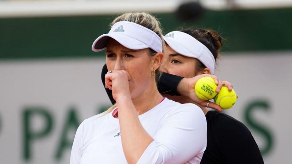 Alexa Guarachi se quedó sin título en el dobles femenino en Roland Garros