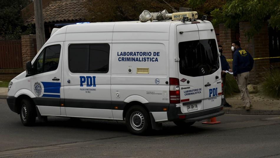 Fiscalía y PDI investigan el crimen de un hombre en plena vía pública