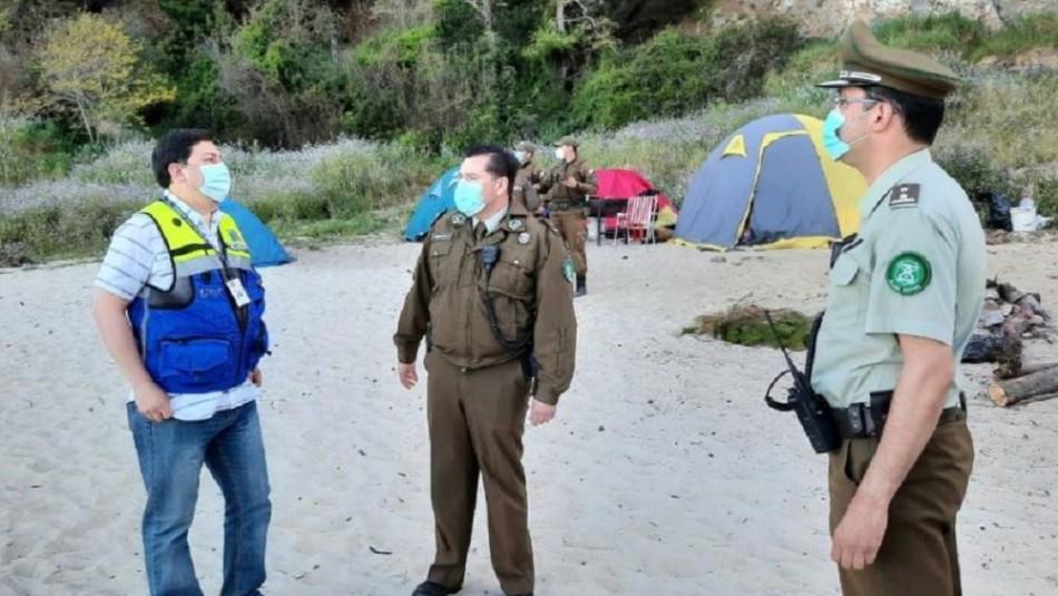Alrededor de 200 personas fueron sorprendidas en playa de Hualpén en plena cuarentena