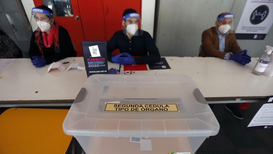 Horarios de votación para los adultos mayores durante el Plebiscito 2020