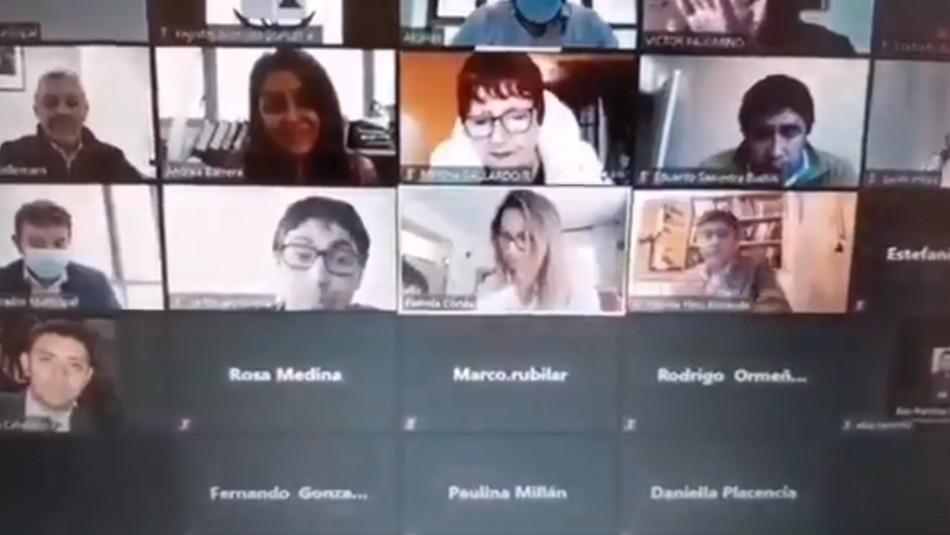 Concejala de Talcahuano insulta a su hija en plena sesión telemática