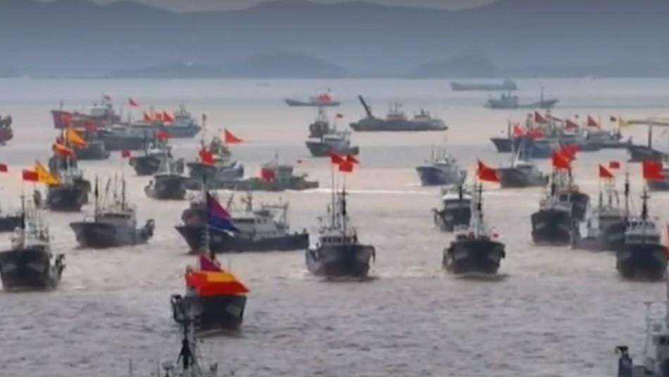 Armada pide calma por flota de barcos chinos y descarta que estén