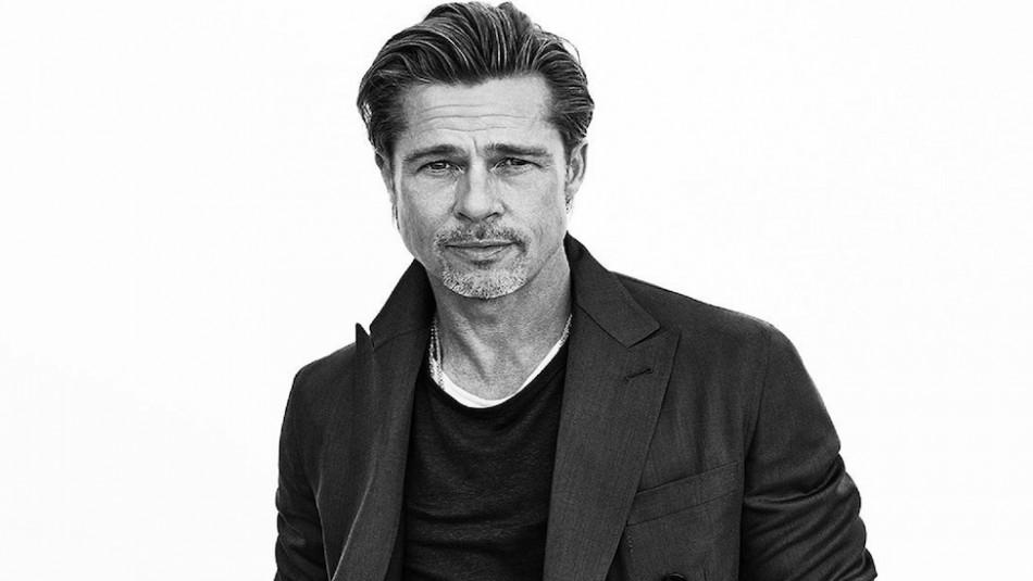 ¡Como el buen vino! Así de impactante luce Brad Pitt como modelo a sus 56 años