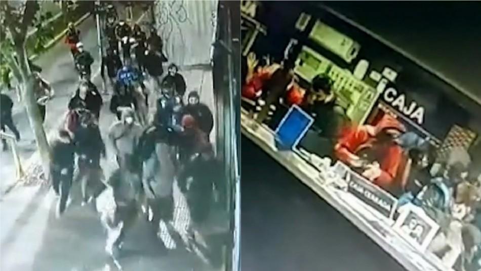 Detienen a individuo que habría saqueado una farmacia en pleno centro de Santiago