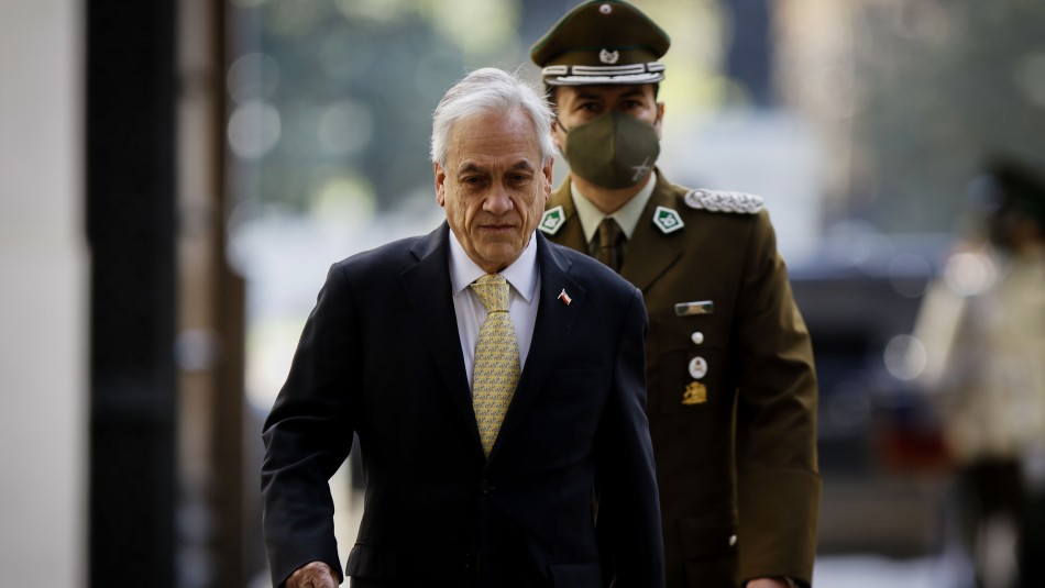 Piñera llega a La Moneda para analizar jornada de manifestaciones por aniversario del 18-O