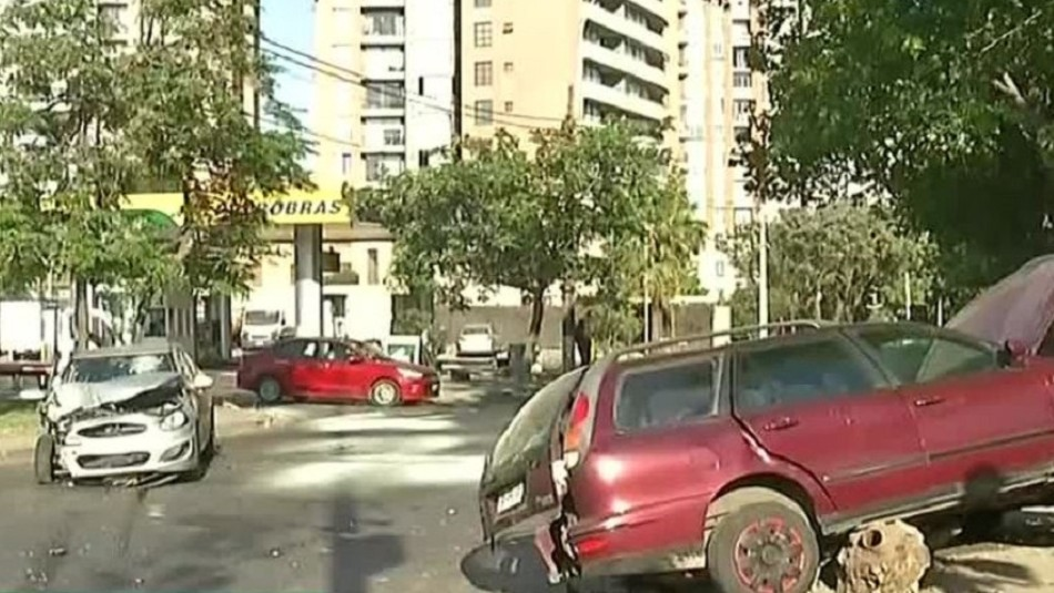Accidente de tránsito deja cuatro personas lesionadas en la comuna de Santiago
