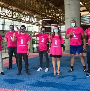 #PonteLaCamiseta: Atletas de alto rendimiento se unen a campaña contra el cáncer de mama
