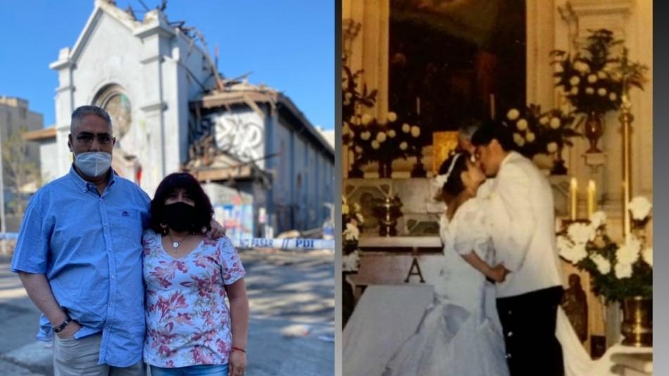 Matrimonio impactado por incendio en Iglesia de la Asunción.