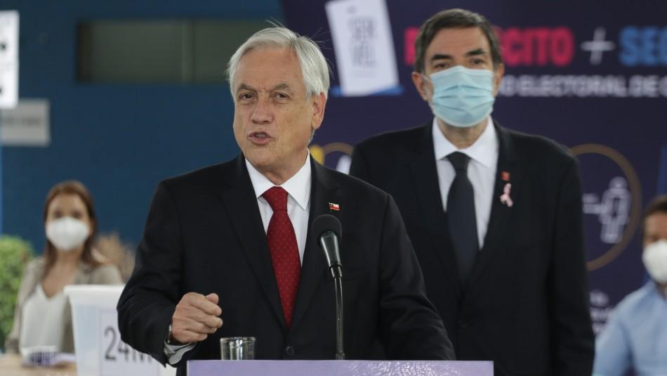18-0: Piñera anuncia querellas por incidentes y reitera llamado a condenar la violencia
