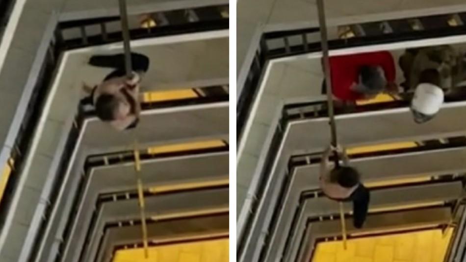 Hombre muere al caer de un octavo piso mientras huía por denuncia de violencia intrafamiliar