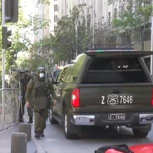 Operativo policial por artefacto sospechoso en las inmediaciones de La Moneda