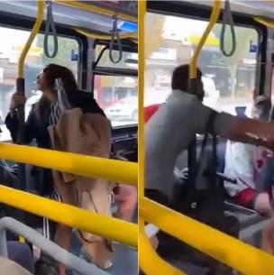 Hombre empujó de un bus a mujer que no usaba mascarilla y que le escupió en la cara