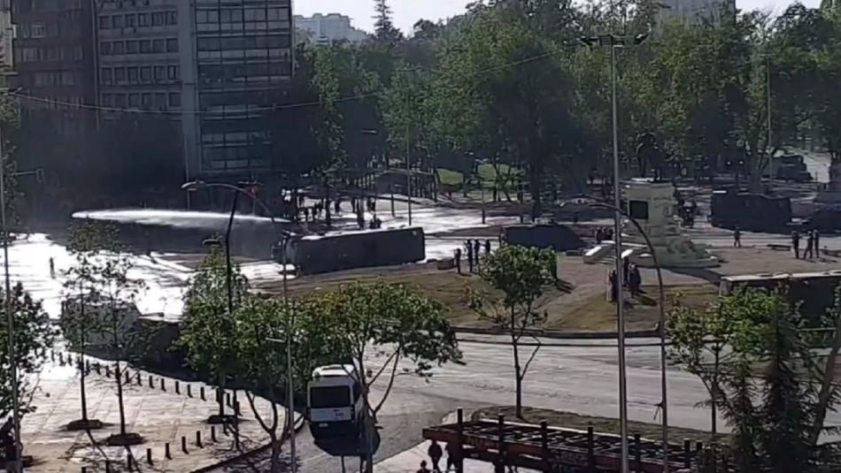 Pequeños incidentes marcaron jornada de manifestaciones en Plaza Italia