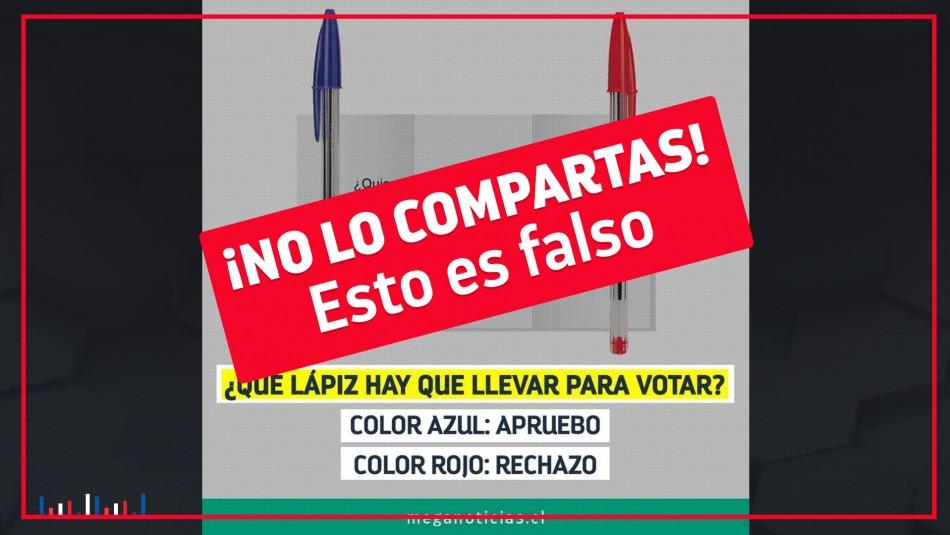 Solo se puede ejercer el derecho a voto con lápiz color azul
