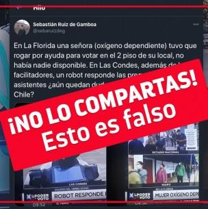 Noticia falsa: Municipalidad de Las Condes no dispuso de robots para orientar a votantes
