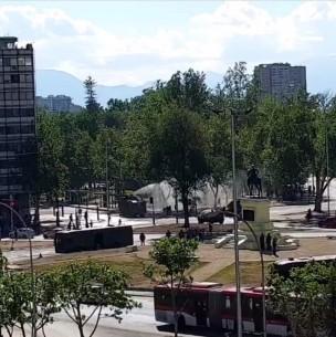 Pequeños incidentes se registran en las cercanías de Plaza Italia