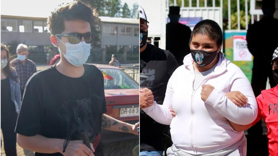 Plebiscito 2020: Gustavo Gatica y Fabiola Campillai llegaron acompañados a votar