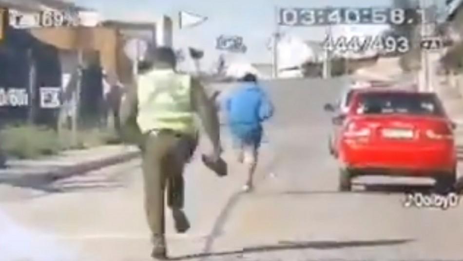 Hombre es perseguido por Carabineros tras negarse a ser vocal de mesa
