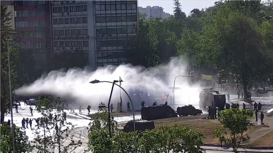 Incidentes y cortes de tránsito por nueva manifestación en Plaza Italia