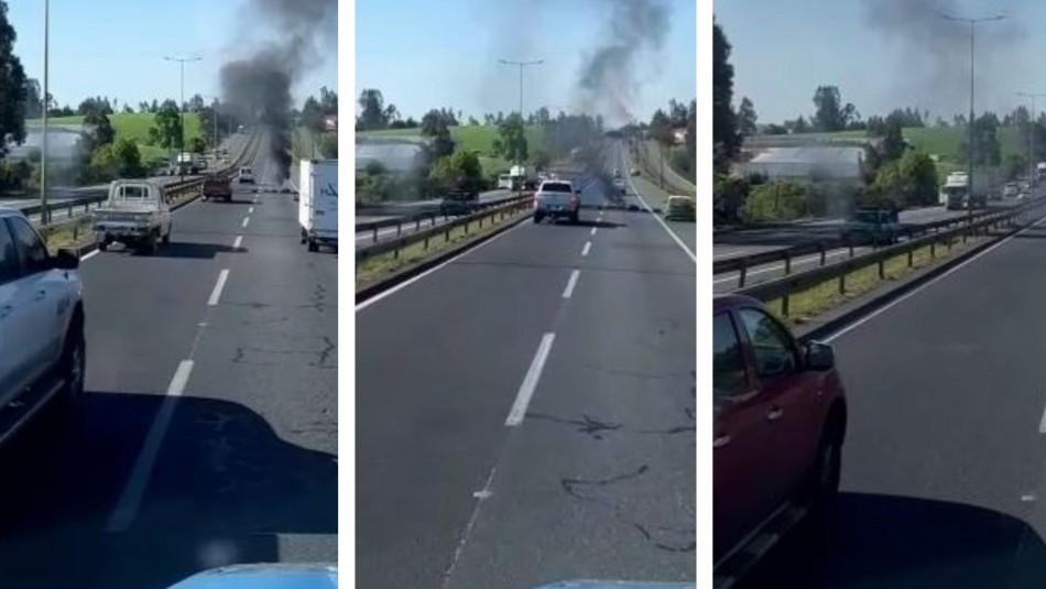 Video muestra momento en que carabinero es baleado en La Araucanía