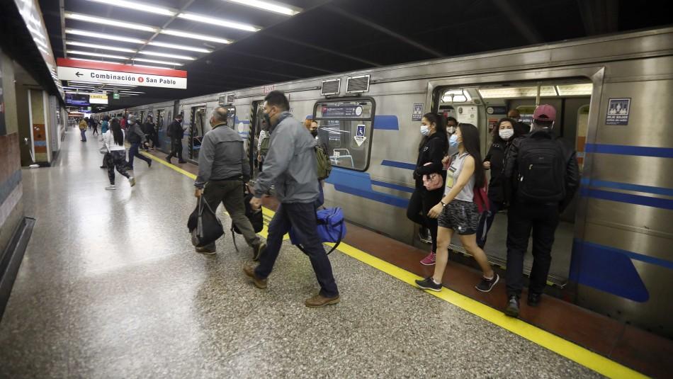 Metro debió suspender parcialmente el servicio en Línea 2