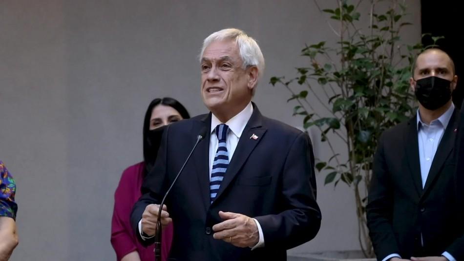 Piñera tras renuncia de Pérez:
