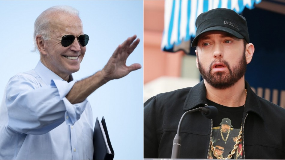 Eminem expresa su apoyo a Biden tras publicar video con su premiada canción