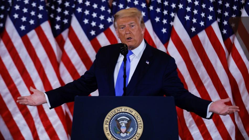 Trump se autoproclama ganador y amenaza con ir a la Corte Suprema por presunto fraude electoral