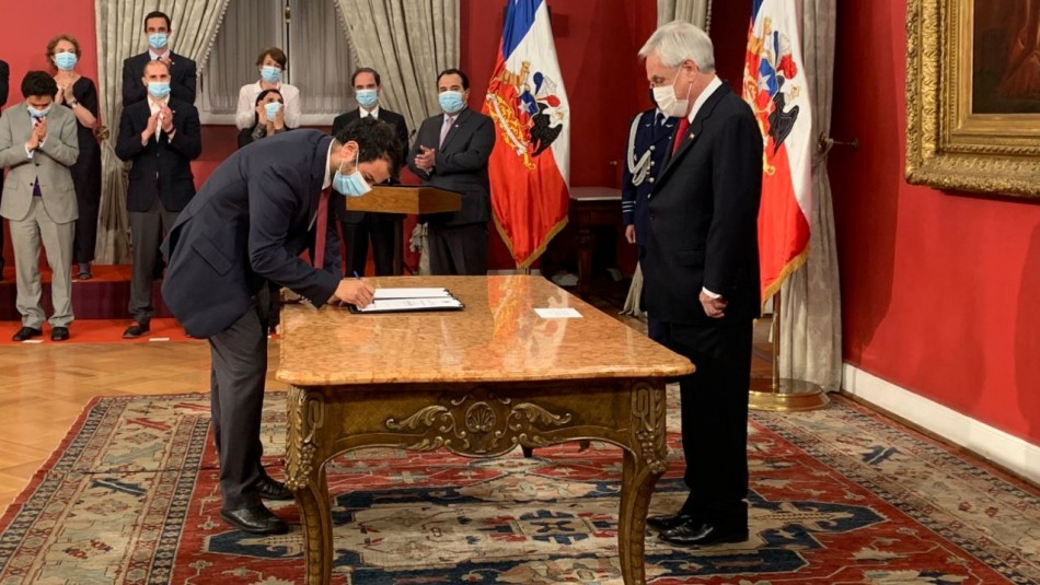 Rodrigo Delgado asume como nuevo ministro del Interior en reemplazo de Víctor Pérez