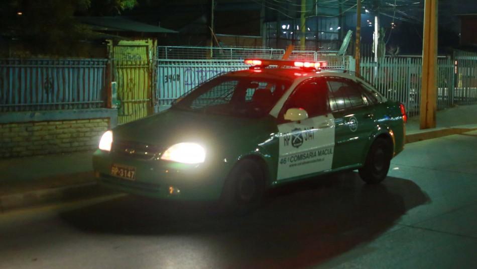 Detienen a cuatro hombres que efectuaron disparos en la vía pública: Armas serían de la PDI