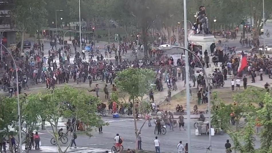 Se registran incidentes en nueva manifestación en Plaza Italia