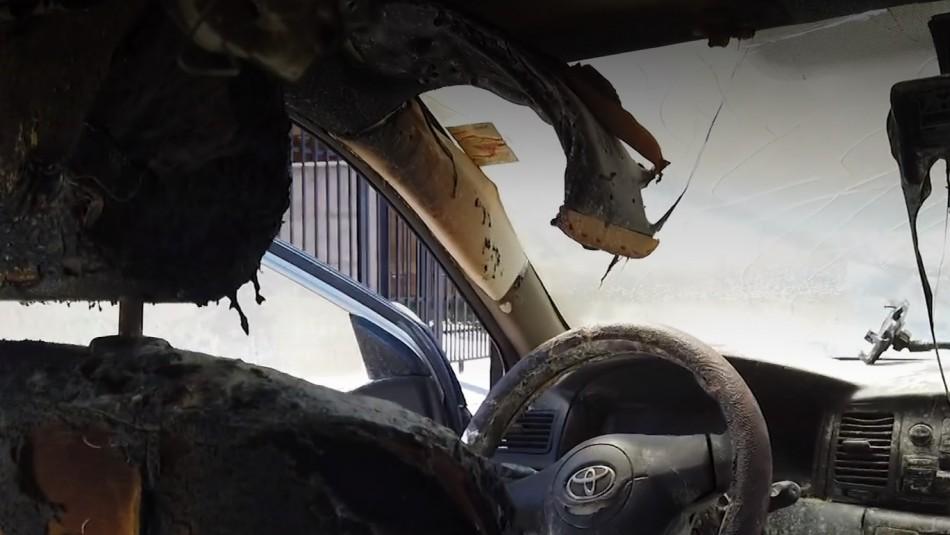 Mujer denuncia que su exmarido incendió su auto: El acusado es un carabinero activo