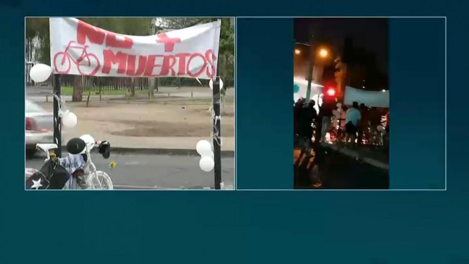 Manifestación por ciclista fallecido en atropello termina con 4 detenidos