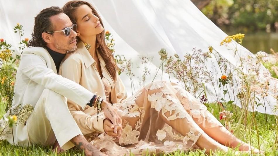 El apasionado beso de Marc Anthony y la modelo Mili Piñeiro en su último video