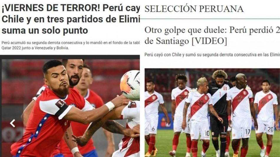 Prensa peruana lamenta caída ante Chile.