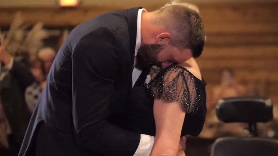 El emotivo video de un hijo bailando en su matrimonio con su madre con ELA