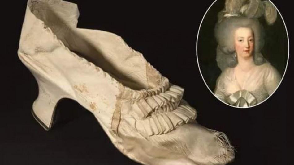 Fue vendido en más de 50 mil dólares: Subastan elegante zapato que perteneció a María Antonieta