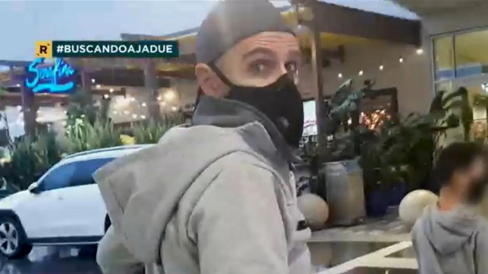 La violenta reacción de Sergio Jadue al ser sorprendido caminando en Miami