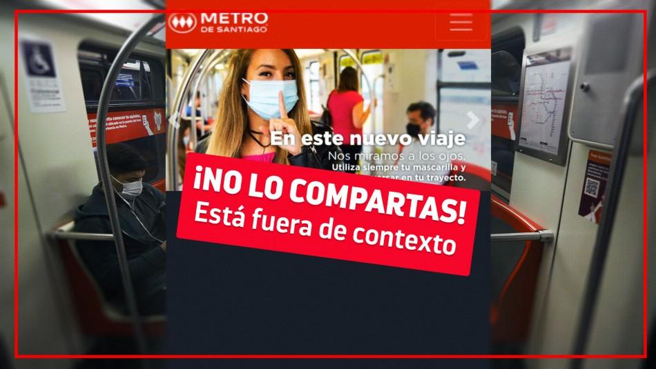 Fact Checking: ¿Está prohibido hablar en el Metro de Santiago para no propagar el coronavirus?
