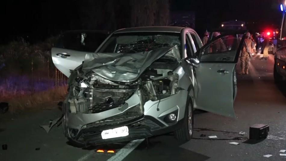 Buscan a conductor fugado tras atropellar fatalmente a dos adultos y un menor en Talca