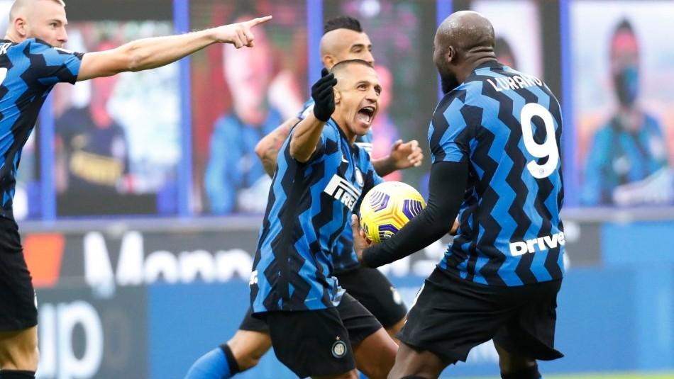 Alexis Sánchez brilla con un gol y una asistencia en remontada del Inter frente a Torino
