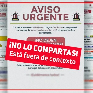 Fact Checking: Alerta sobre delincuentes que se hacen pasar por sanitizadores no es en Chile