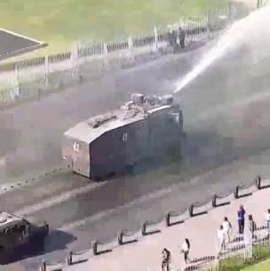 Tránsito interrumpido y estaciones de Metro cerradas en centro de Santiago por manifestaciones