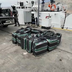 Una de las incautaciones de droga más grandes en Chile: Decomisan US$14 millones en cocaína