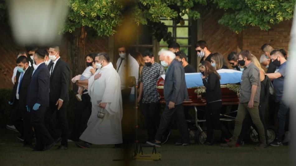 Así se vivió el funeral de Diego Maradona.