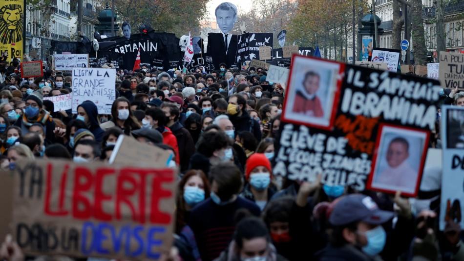 Masivas protestas en Francia contra ley que sancionaría con cárcel grabaciones a la policía
