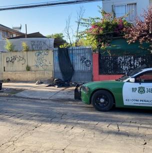 Asado familiar termina con un muerto en incendio de una casa en Peñalolén