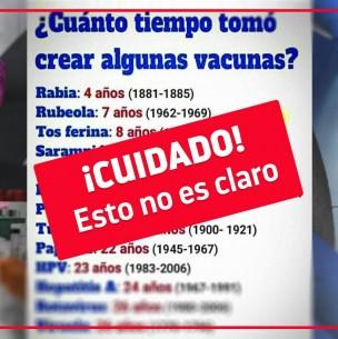 Fact Checking: Tiempo de desarrollo de una vacuna no define su efectividad