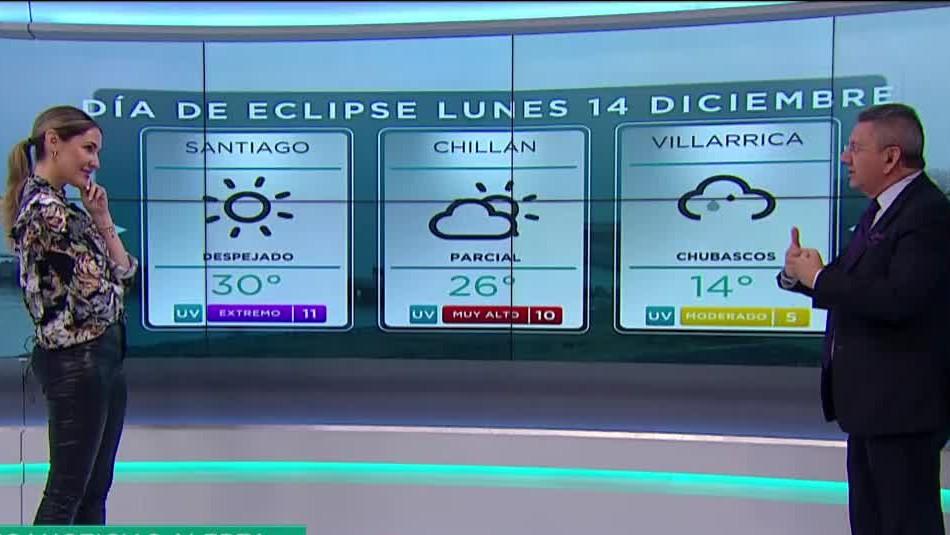 Jaime Leyton anticipa: Precipitaciones y cielo nublado para el día del Eclipse Solar